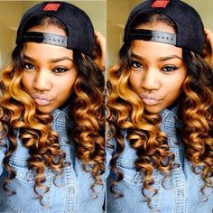8A Ombre Brazilian Human Hair Extensions 3Pcs/lot Deep Curly Cheap Hair Weaves 1B 30 Black & Dark Blonde Deep Wave Hair Bundles Weave Hairstyles, Pretty Hairstyles, Straight Hairstyles, Lace Closure, Locks, Curly Hair Styles, Natural Hair Styles, New Flame, Tape In Hair Extensions