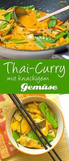 Thai curry with crunchy vegetables Madame Cuisine Recipe Vegan: cook without fish sauce ! Thai curry with crunchy vegetables Madame Cuisine Recipe Vegan: cook without fish sauce ! Vegetable Recipes, Vegetarian Recipes, Healthy Recipes, Vegetarian Soup, Curry Recipes, Indian Food Recipes, Asian Recipes, Fish Recipes, Beef Recipes