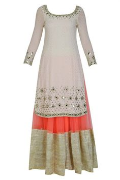 90a0fe1641 Mirror Work Dress, Dress Design Sketches, Desi Clothes, Asian Clothes,  White Mirror