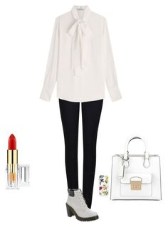 """Untitled #481"" by broken-scene-queen on Polyvore featuring Armani Jeans, Valentino, Dr. Martens, Michael Kors and Trelise Cooper"