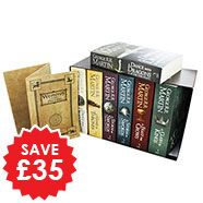 A Song Of Ice And Fire - Game Of Thrones - 7 Book Box Set With Westeros And Free Cities Poster Map