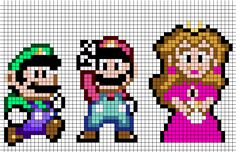 Mario Cross Stitch Patterns.  I think this might be nice for williams room once he gets old enough to start liking mario.