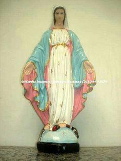 Nossa Senhora das Graças   ArtCunha Imagens (21) 2445-1929  #NossaSenhoradasGraças #NossaSenhoradasGracas #NossaSenhora #artesacra #artesanato #RiodeJaneiro