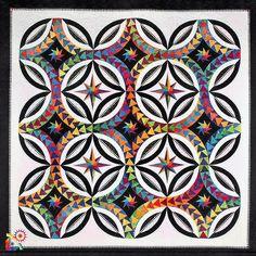 Fanciful Flight quilt pattern by Jacqueline de Jonge   Be Colourful