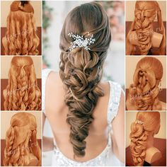 How to Make Elegant Braided Hairstyle for Bride