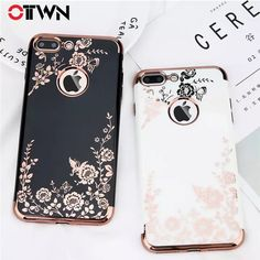 ac9c490b582 US $1.47 20% OFF|Ottwn Case For iPhone X 7 6 6s Plus Fashion Plating Rose  Gold Black White Hard PC Phone Cases Back Cover For iPhone 7 Plus-in Fitted  Cases ...