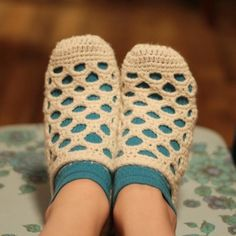 #crochet shoes from designer Mamachee