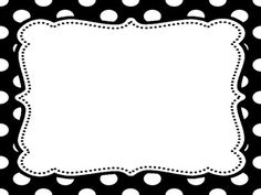 Black and White Polka Dots rules posters - editable and FREE