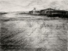 "Charcoal Landscape II (Charcoal on paper, 18"" X 24"") - 2009"