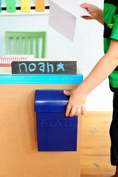DIY Toddler Mail Center.