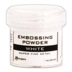 Ranger Opaque/Shiny Embossing Powders: Super Fine White