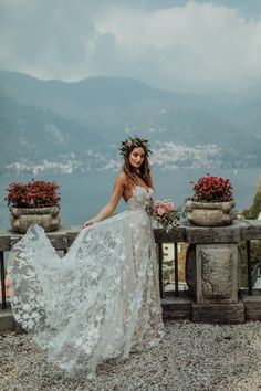 Bohemian Wedding Dresses, Tulle Wedding, Dream Wedding Dresses, Bridal Dresses, Floral Wedding Gown, Indie Wedding Dress, Bohemian Bride, Fitted Lace Wedding Dress, Elopement Wedding Dresses