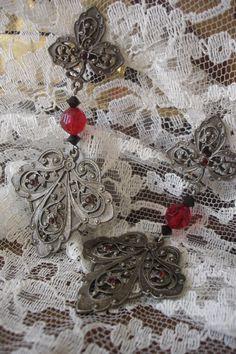 Gothic Lolita Earrings Victorian Goth Vintage by XandaRoe on Etsy