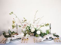 Contemporary Indoor Spring Wedding Inspiration