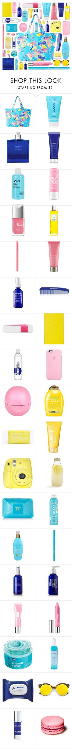 """//Gonna soak up the sun//"" by the-key-to-my-heart ❤ liked on Polyvore featuring beauty, Lilly Pulitzer, COOLA Suncare, Boudicca, Elemis, NYX, Rodin, Moroccanoil, Captain Blankenship and Das Boom Industries"