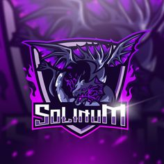 Instagram/solinum_ Logan, Robot Logo, Ninja Logo, Lato Font, Sports Team Logos, Game Logo Design, Esports Logo, Creative Art, Mythology
