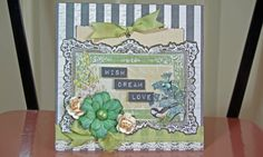 Pocket card - made using a Prima journaling card - published in Australian Simply Cards 53 (OD)