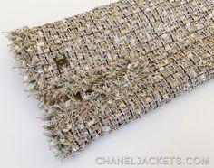 05P-BeigGldMltiCMtlcClscJckt-5 Chanel Jacket, Anna Wintour, Sheer Chiffon, Fringe Trim, Summer Collection