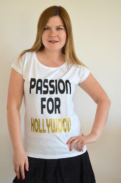 Hollywood, Passion, T Shirts For Women, Shopping, Etsy, Tops