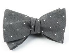 tiebar.com $19USD linen20/silk80 Bulletin Dot - Grey