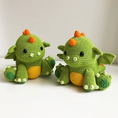 """1,616 Likes, 26 Comments - Mariska Vos-Bolman (@diyfluffies) on Instagram: """"Two Koji the dragons! One is going to @amigurumipatterns for the fantasy Amigurumi book that will…"""""""