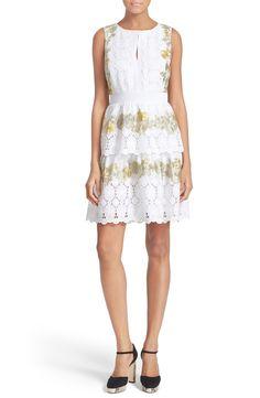Diane von Furstenberg 'Calandra' Embroidered Fit & Flare Dress