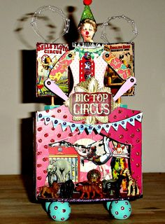 Circus/Big Top Altered Art Assemblage - Mini Theatre/Shrine Available https://www.zibbet.com/enchanted-revelries/circus-big-top-miniature-theatre-shrine-handmake-ooak