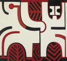 Paratene Matchitt - Te Kooti at Ruatahuna, 1967 - New Zealand Pattern Images, Pattern Art, Maori Designs, New Zealand Art, Nz Art, Maori Art, Contemporary Paintings, Printmaking, Folk Art