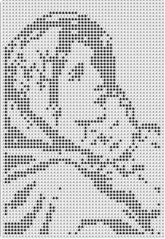 Νο 19 Madonna of the Streets crochet afghan pattern copyright Tina Gibbons available for sale Filet Crochet Charts, Crochet Motifs, Crochet Diagram, Afghan Crochet Patterns, Crochet Doilies, Crochet Afghans, Cross Stitch Art, Cross Stitch Designs, Cross Stitching