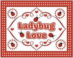 free ladybug party printable sign