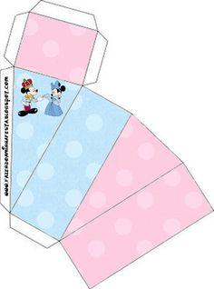 Cajitas imprimibles Minnie y Mickey rey y reina