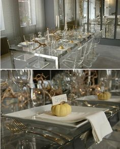 love all the lucite.. might be a little extreme.. but paired with the gold.. I love it..