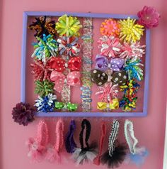 Drama Mama's Little Corner: DIY hair bow holder
