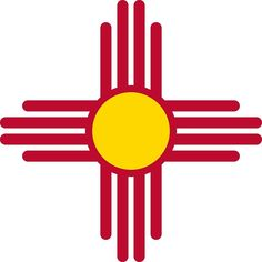 """""""New Mexico Flag Symbol Patriotic Red Sun"""" by ArgosDesigns 