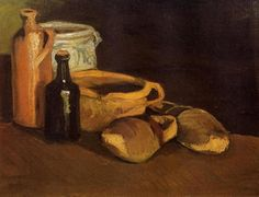 Still Life with Clogs and Pots, 1884, Vincent van Gogh Medium: oil on canvas