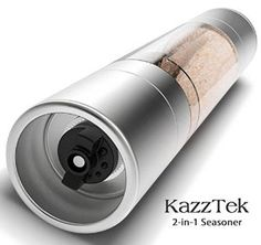 The BEST 2-in-1 Salt and Pepper Grinder You Will Ever Own! Simply Awesome! I Use Pink Himalayan Salt and Black Peppercorns. So Convenient to Have Them Both in ONE Very Cool Product!