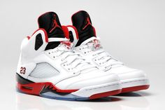 "Image of Air Jordan 5 Retro ""Fire Red"" http://hypebeast.com/2013/8/air-jordan-5-retro-fire-red"