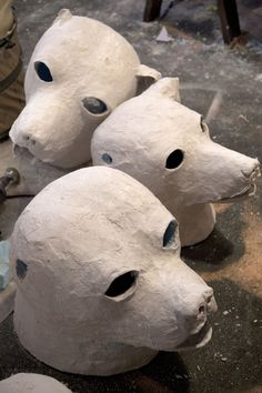 Paper Mache Head Sculpture | The Art of the Paper Mache Dog Head: Michael Ballou at Brooklyn Museum ...
