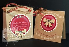 A little gift set, bag and card/tag. using Melanie's newest set, Fabulous Holiday  fillers!