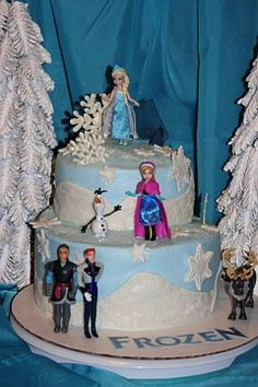 Frozen cake Frozen Birthday Party, Frozen Party, Birthday Parties, 5th Birthday Cake, Birthday Ideas, Movie Theme Cake, Elsa Cakes, Frozen Stuff, Cupcake Cakes