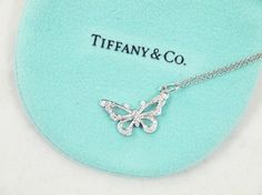 Diamond and Platinum Butterfly Necklace with Pouch and Box. Get the lowest price on Diamond and Platinum Butterfly Necklace with Pouch and Box and other fabulous designer clothing and accessories! Shop Tradesy now