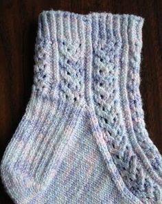 free knit sock pattern - Hedera Sock knit with Panda Cotton - Crystal Palace Yarns
