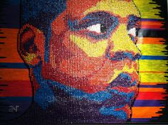 Push pin art. Copyright Push Pin Art, Crazy Art, Weird Art, Painting, Strange Art, Painting Art, Paintings, Painted Canvas, Drawings