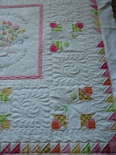 beautiful quilting.  How Does Your Garden Grow by Crabapple Hill Studio