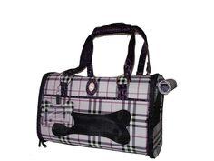 Bolsa transportadora para perro www.knitoboutique.com