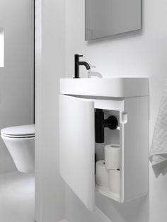 Small Bathroom Sinks, Loft Bathroom, Tiny Bathrooms, Bathroom Toilets, Beautiful Bathrooms, Small Toilet Room, Guest Toilet, Downstairs Toilet, Toilette Design