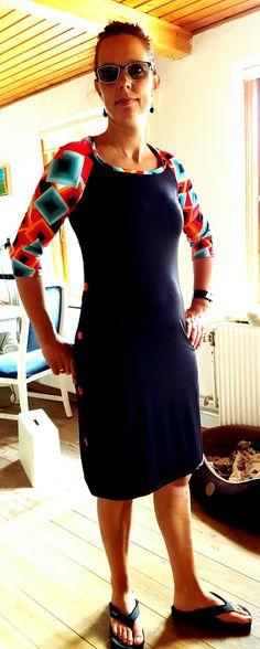 Sommer kjole med 3/4 ærme