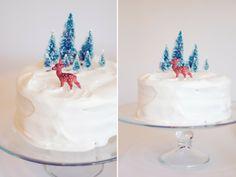Snowy Forest Cake - via Lady Go Lightly