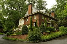 """Gentle Stewards for a 1908 House. American Arts & Crafts architecture includes many examples that go """"beyond the bungalow."""" This one in Portland, Oregon, is a classic."""
