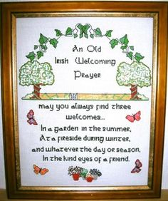 An Old Gaelic Welcoming Prayer - framed